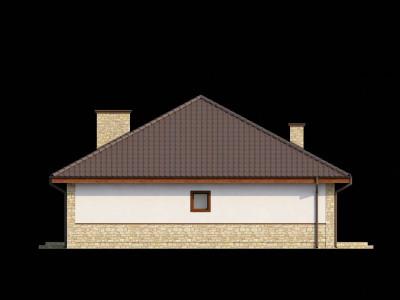 Z10 dk - Версия проекта одноэтажного коттеджа Z10 адаптированного для каркасного строительства