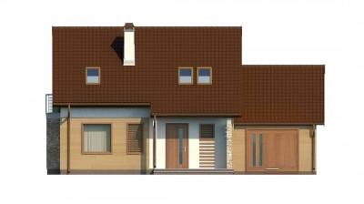 Z102 GP - Версия проекта дома Z102 с гаражом, пристроенным справа.