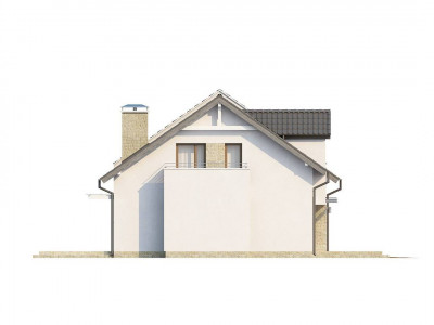 Z110 - Проект функционального и уютного дома с современными элементами в архитектуре.