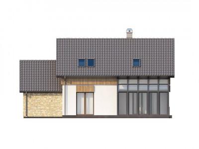 Z118 - Проект уютного функционального дома с застекленной террасой.