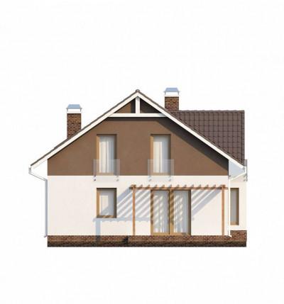 Z128 dk - Проект дома с мансардным этажом, измененный под каркасную технологию строительства