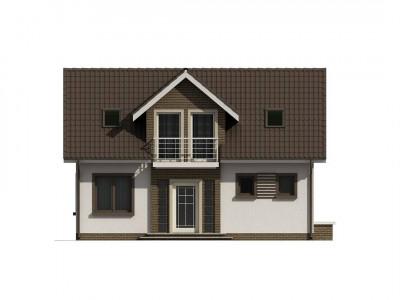 Z13 - Простой в строительстве дом с балконом над входом.