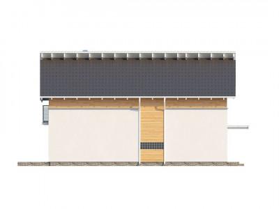 Z137 - Энергоэффективный и удобный дом с современными элементами отделки фасадов. Подходит для узкого участка.