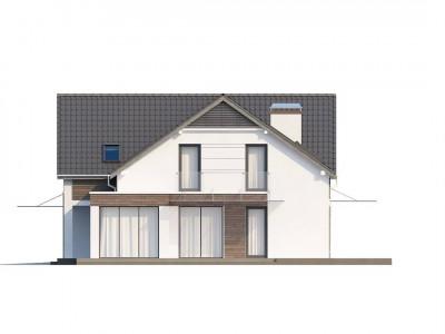 Z138 - Просторный и комфортный дом с гаражом для двух автомобилей и угловым эркером.