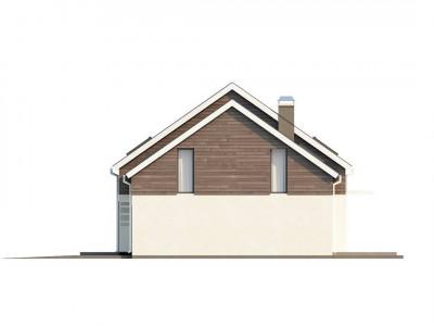 Z147 - Проект удобного функционального дома простой формы с двускатной крышей.