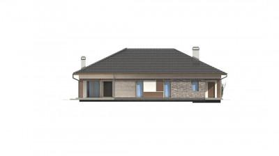 Z153 GL - Версия дома Z153 с гаражом, встроенным в корпус здания.