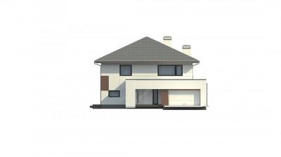 Z156 - Элегантный комфортабельный двухэтажный дом с современными элементами архитектуры.