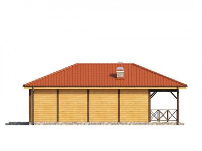 Z16 - Компактный одноэтажный дом с большой крытой террасой.