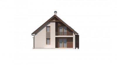 Z166 - Традиционный дом с дополнительной комнатой на первом этаже и эркером в обеденной зоне.