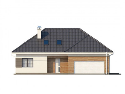 Z173 - Просторный дом традиционной формы с гаражом и дополнительной небольшой ночной зоной на первом этаже.