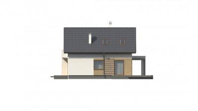 Z177 GL - Версия дома Z177 с гаражом, пристроенным с левой стороны.
