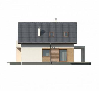 Z177 dk - Аккуратный коттедж с мансардным этажом, адаптированный под каркасное строительство