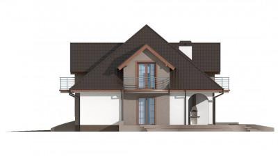 Z18 GL bk - Версия проекта Z18 со встроенным гаражом с левой стороны дома