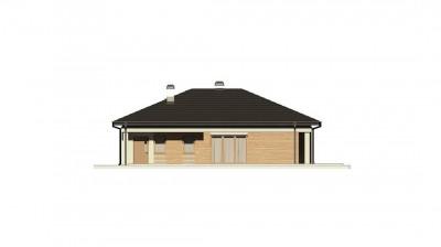 Z204 GP - Вариант проекта одноэтажного дома Z204  с гаражом для одной машины.