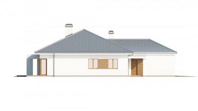 Z206 - Практичный одноэтажный дом с гаражом, с возможностью адаптации мансарды.