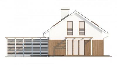 Z213 - Проект дома в традиционном стиле с двускатной крышей.
