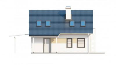 Z216 - Экономичный в строительстве и реализации дом с удобной планировкой, с навесом для автомобиля.