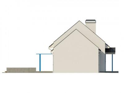 Z217 - Компактный дом с гаражом для одной машины, с большими окнами в гостиной.