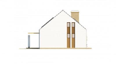 Z221 - Компактный стильный дом простой формы с большой площадью остекления в дневной зоне.