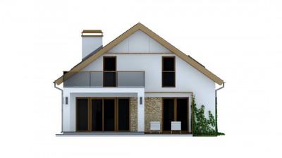 Z224 - Дом средних размеров классической формы с двускатной кровлей.