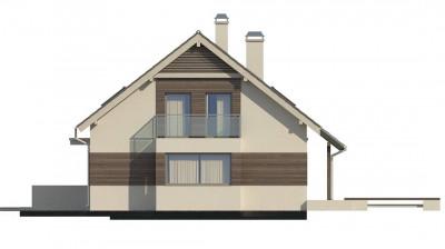 Z231 - Удобный дом с эркером, балконом и террасой над гаражом.