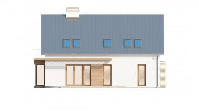 Z234 - Комфортный дом с мансардой, со стеклянным эркером и гаражом.