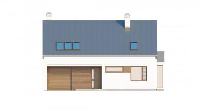 Z237 - Комфортный дом с гаражом простого аккуратного дизайна.