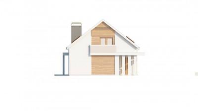Z238 - Удобный дом простой формы с двускатной кровлей, с гаражом для двух авто.