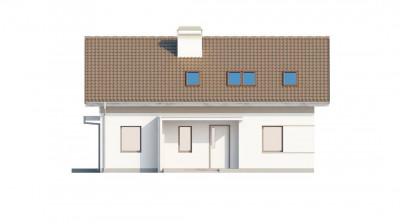 Z244 - Проект простого и аккуратного дома с дополнительной ночной зоной на первом этаже.