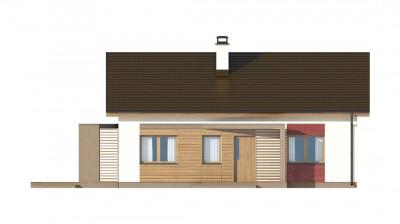 Z255 a - Небольшой одноэтажный дом с оригинальным оформлением террас.