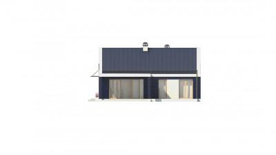Z256 - Компактный одноэтажный дом современного дизайна с необычным оформлением террасы.