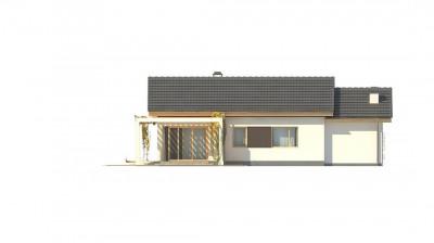 Z259 - Небольшой одноэтажный дом с большой площадью остекления в гостиной.