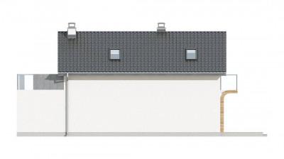 Z298 - Практичный и уютный дом с оригинальным оформлением фасадов, идеальный для неглубокого участка.