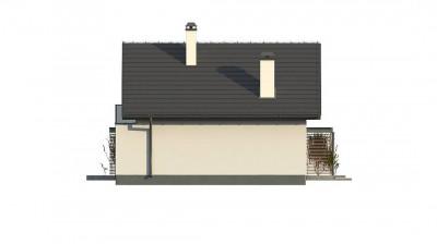 Z302 - Компактный и функциональный дом с мансардой в традиционном стиле.