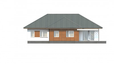 Z307 - Комфортный одноэтажный дом в традиционном стиле.