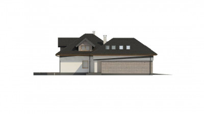Z325 - Комфортабельный мансардный дом с оригинальными элементами отделки фасадов