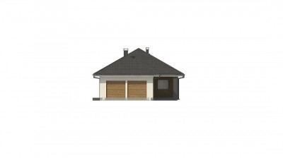 Z327 - Одноэтажный дом  в современном стиле с двойным гаражом