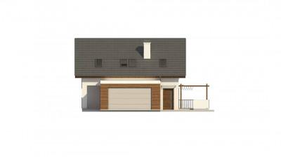 Z350 - Стильный мансардный дом с гаражом на две машины