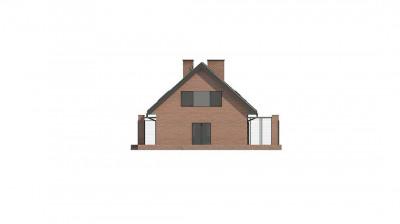 Z351 - Стильный мансардный дом с двускатной кровлей