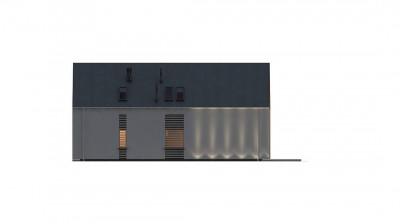 Z357 - Современный мансардный дом с гаражом на две машины
