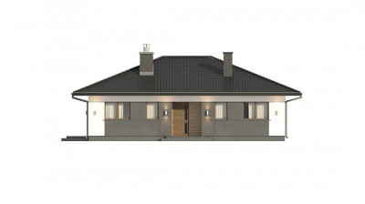 Z368 D - Аккуратный одноэтажный дом в традиционном стиле с продуманной планировкой