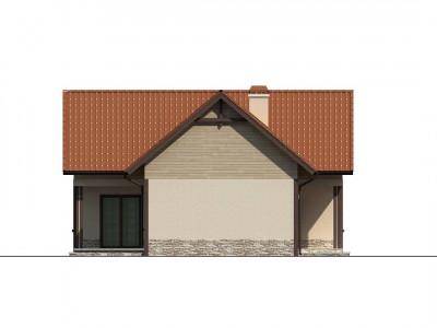 Z37 - Дом для узкого участка с дополнительной спальней на первом этаже и кухней со стороны сада.