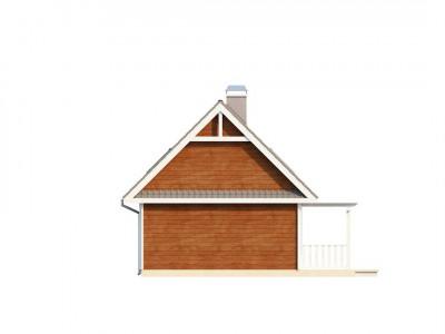 Z39 - Маленький, уютный дом с мансардой, двускатной крышей и c фронтальной террасой.