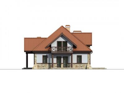 Z46 - Проект двухсемейного дома в стиле дворянской усадьбы.