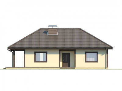 Z55 - Проект компактного функционального дома с боковой террасой.