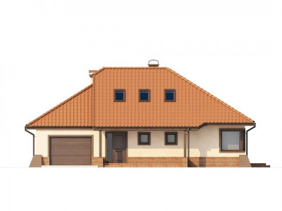 Z56 - Просторный дом с гаражом, большим хозяйственным помещением и угловой террасой.