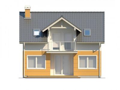 Z65 - Стильный дом с мансардным окном и балконом, а также кухней со стороны сада.