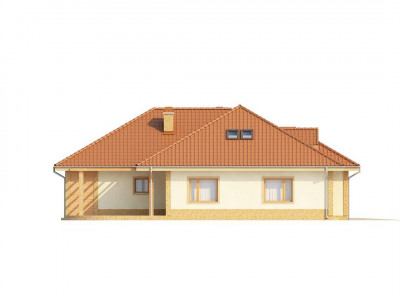 Z77 - Проект просторного одноэтажного дома с возможностью обустройства мансарды.