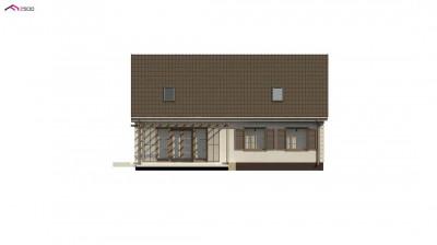 Z8 B 40 - Удобный дом с двускатной кровлей и мансардным этажом
