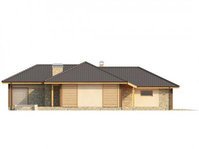 Z81 - Проект одноэтажного дома с выступающим фронтальным гаражом.